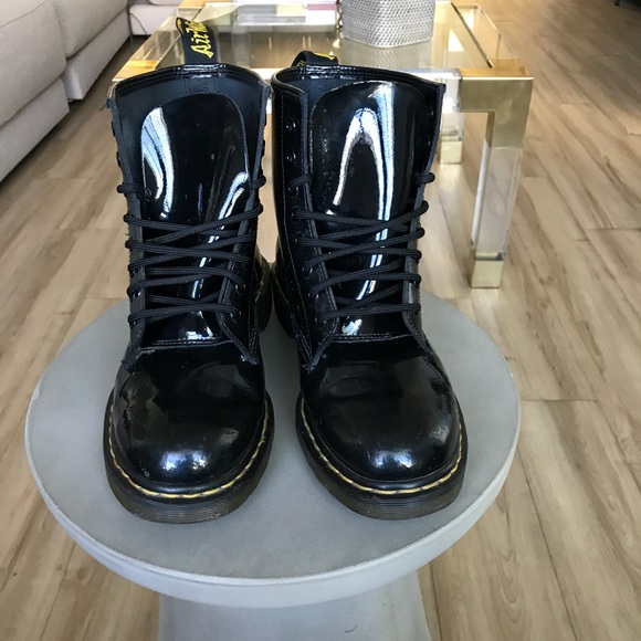 c6fedb2be35 Men's black patent leather Doc Martens